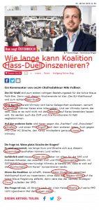 """""""Hass-Duell"""" in der Zeitung Österreich"""